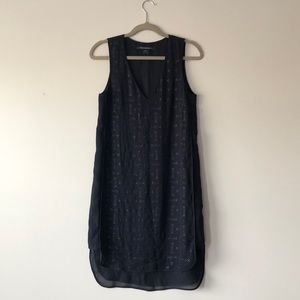 French Connection Studded Silk Dress